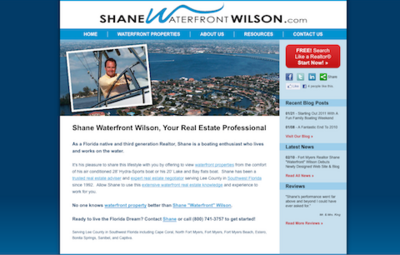 "Visit Shane ""Waterfront"" Wilson's Web Site!"