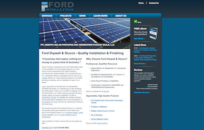 Visit the Ford Drywall & Stucco Website