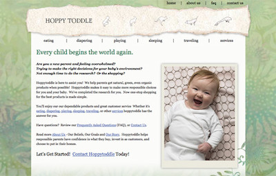 Visit the Hoppy Toddle Website