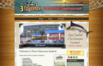 Visit the Three Fishermen Seafood Restaurant Website