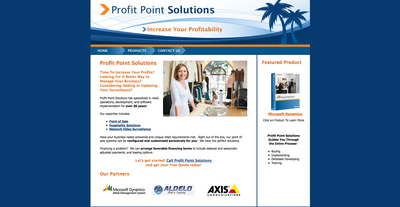 Profit Point Solutions Web Site
