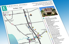 Embassy Suites Area Map