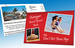 Outrigger Beach Resort Postcard