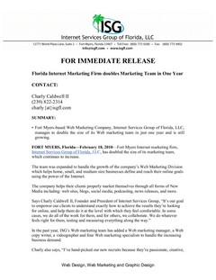 Florida Internet Marketing Firm Doubles Marketing Team in One Year